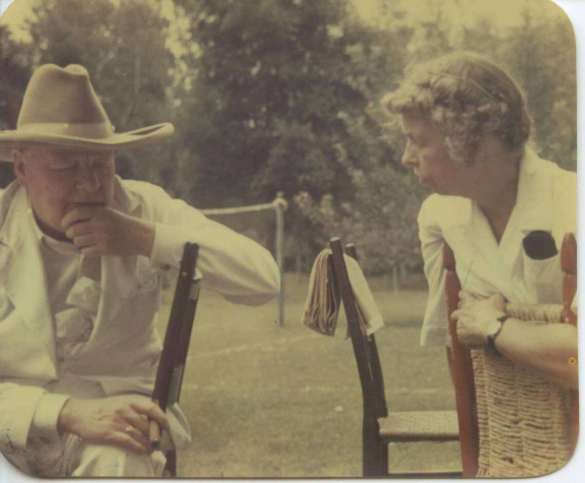Winston Churchill and Eleanor Roosevelt at Val-Kill. (Photo courtesy National Park Service)
