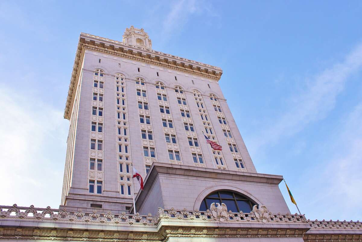 Oakland City Hall. The city is facing close to $44 million budget deficit this fiscal year in its general fund - down from early projections of $71.6 million.