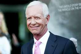 "Chesley ""Sully"" Sullenberger arrives at the LA Premiere of ""Sully"" at The Directors Guild of America Theater on Thursday, Sept. 8, 2016, in Los Angeles. (Photo by Rich Fury/Invision/AP)"