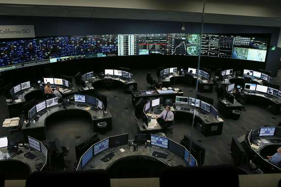 California Independent System Operator control room in Folsom, Calif., on Thursday, September 15, 2016. September 27th marks the 10th anniversary of California's landmark climate change law, AB32, and Cal ISO manages up to 30% of power created from renewable resources.