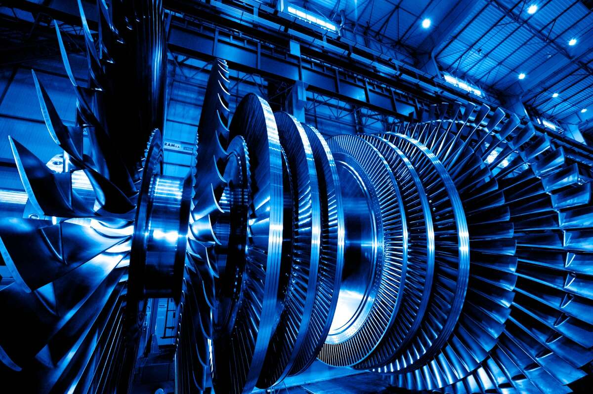 One of the steam turbines that General Electric Co. makes in France. Source: GE