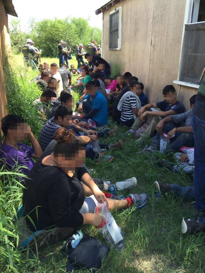 Law enforcement officials apprehended 57 undocumented immigrants from a stash house in Edinburg, Texas, where five were arrested on Sept. 14, 2016. Photo: Courtesy/U.S. Customs And Border Protection