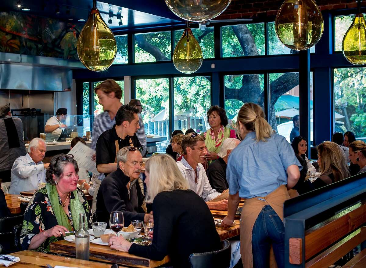 People have dinner at Playa in Mill Valley.