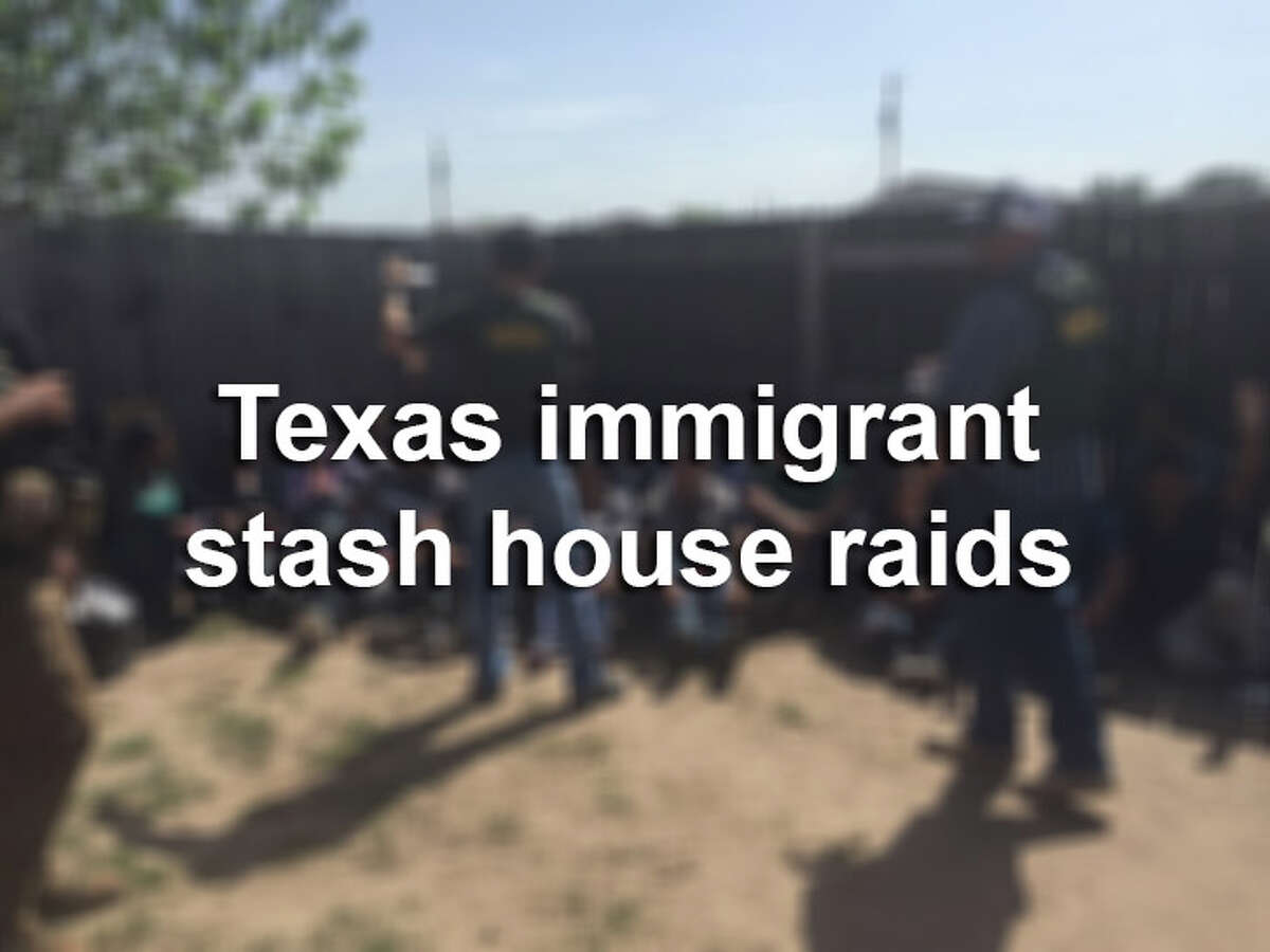From plywood floors to Santa Muerte altars, click through to see recent CBP immigrant stash house raids in Texas.