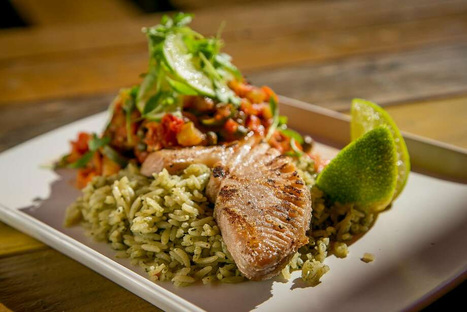 At Playa in Mill Valley, the wood grilled opah. Photo: John Storey, Special To The Chronicle