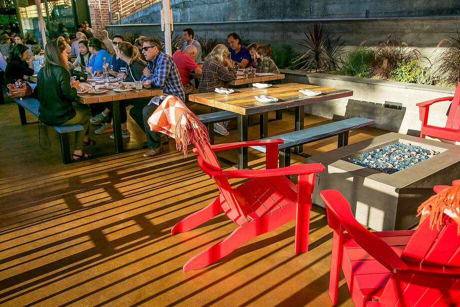 On the patio at Playa in Mill Valley. Photo: John Storey, Special To The Chronicle