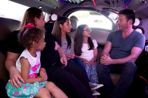 Singer and talk show host Harry Connick Jr. quizzes San Antonio girls about music during their limo ride together. Their fun segment will be featured on his talk show, 'Harry.'