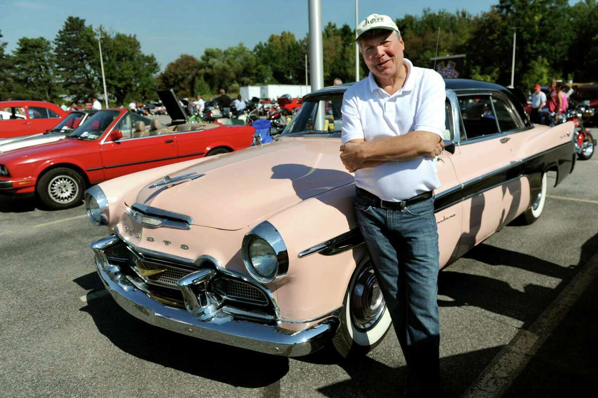 Howard Schaffer of Bethlehem with his 1956 DeSoto during the 5th annual Times Union Car show to benefit the Hope Fund on Saturday, Sept. 19, 2015, at the Times Union in Colonie, N.Y. (Cindy Schultz / Times Union)