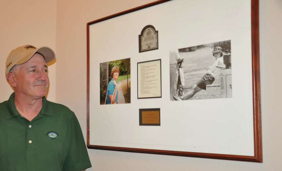 John Ottaviano,  golf course superintendent at Manchester Country Club, on May 13, 2016. Ottaviano was supposed to play golf with Hunter in a Pro-Am tournament the day she went missing. The Manchester Country Club features a Sarah Hunter tribute on a staircase leading up to the dining room. (Joyce Bassett / Times Union)