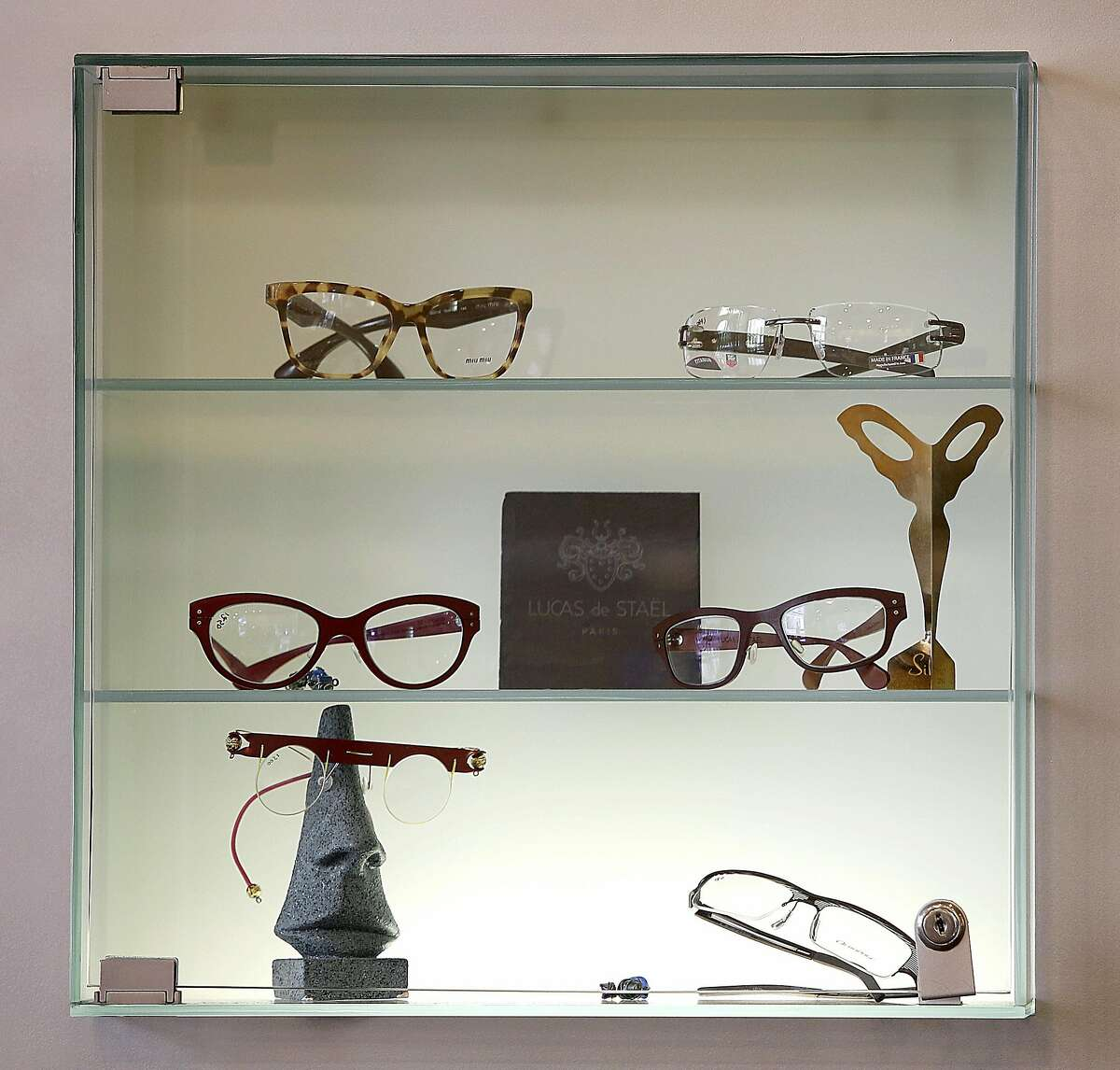 Display of glasses at Rims & Goggles on Thursday, September 15, 2016, in San Francisco, Calif.