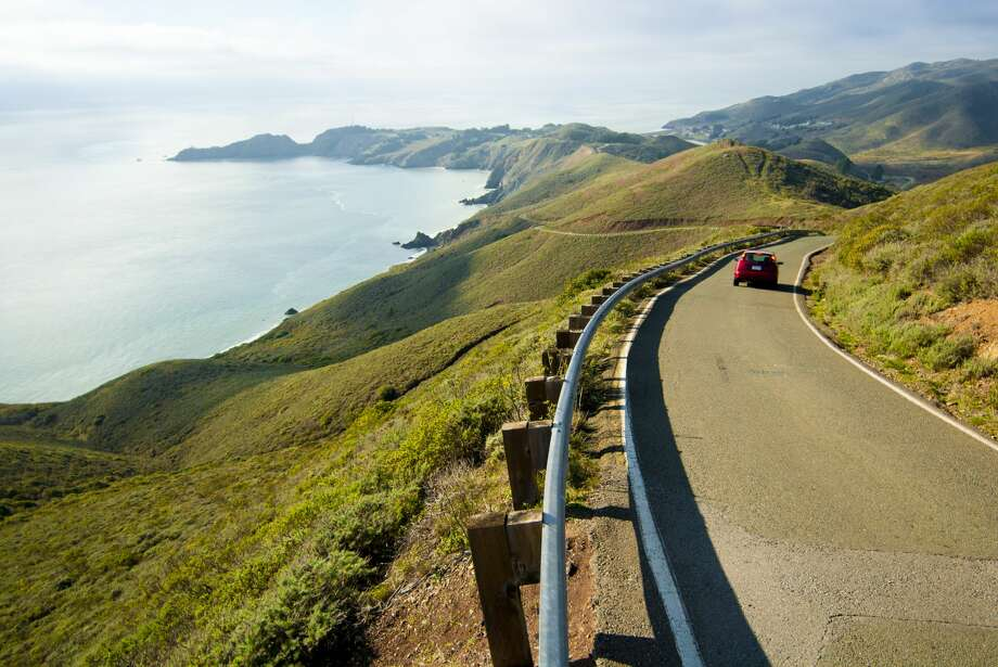 Conzelman Road, Mill Valley: Lets face it, we can't get enough of the Golden Gate Bridge, and if you've been wanting to see it from another angle, look no further. Photo: Jeff Diener/Getty Images/Aurora Creative