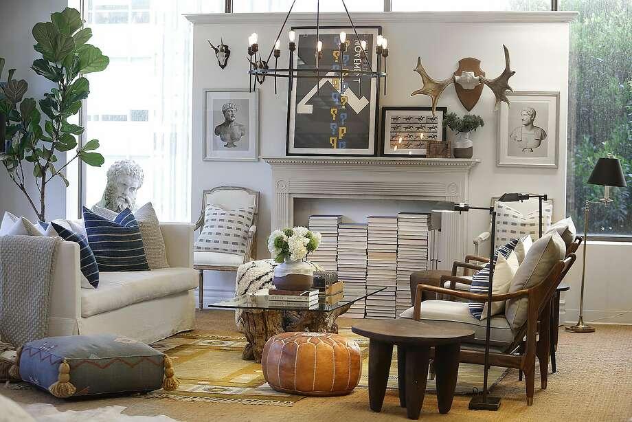 A living room at One Kings Lane showroom in S.F. Photo: Liz Hafalia, The Chronicle