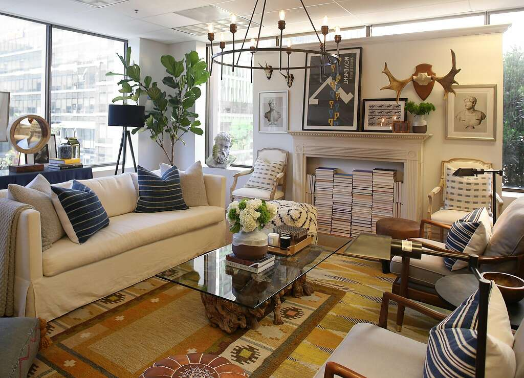 The One Kings Lane Showroom In SF Offers A Series Of Living Room Vignettes To