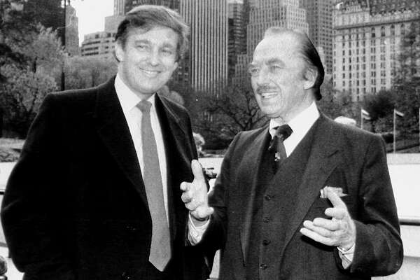Donald Trump and father Fred Trump at opening of Wollman Rink. (Photo by Dennis Caruso/NY Daily News Archive via Getty Images)