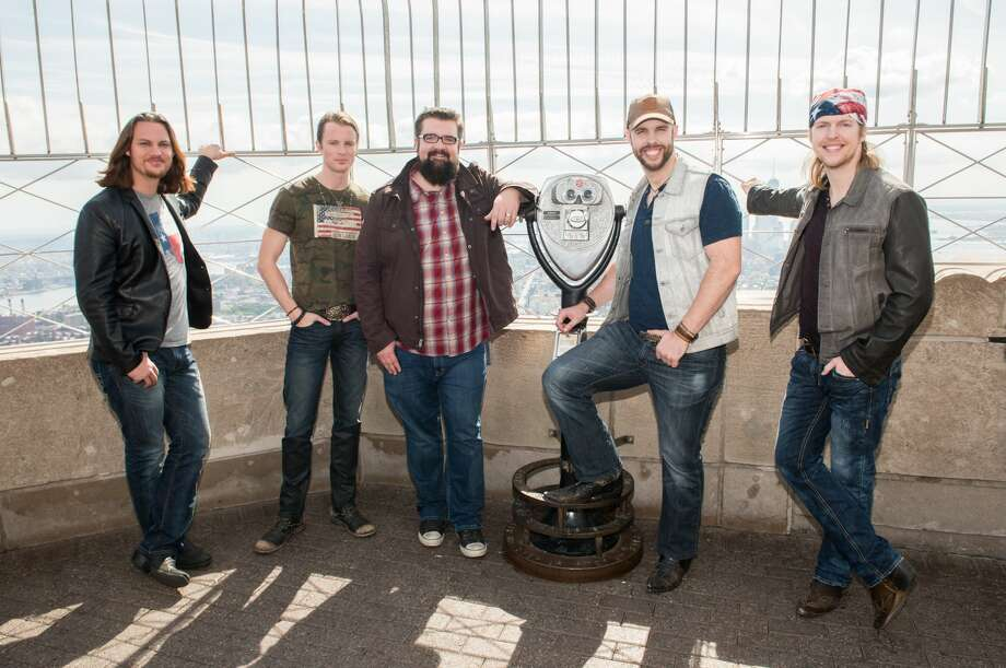 NEW YORK, NY - SEPTEMBER 25:  (L-R) Tim Foust, Austin Brown, Rob Lundquist, Chris Rupp and Adam Rupp of the band 'Home Free', season 4 winners of NBC's The Sing-Off visit The Empire State Building at The Empire State Building on September 25, 2015 in New York City.  (Photo by Noam Galai/WireImage) Photo: Noam Galai/WireImage
