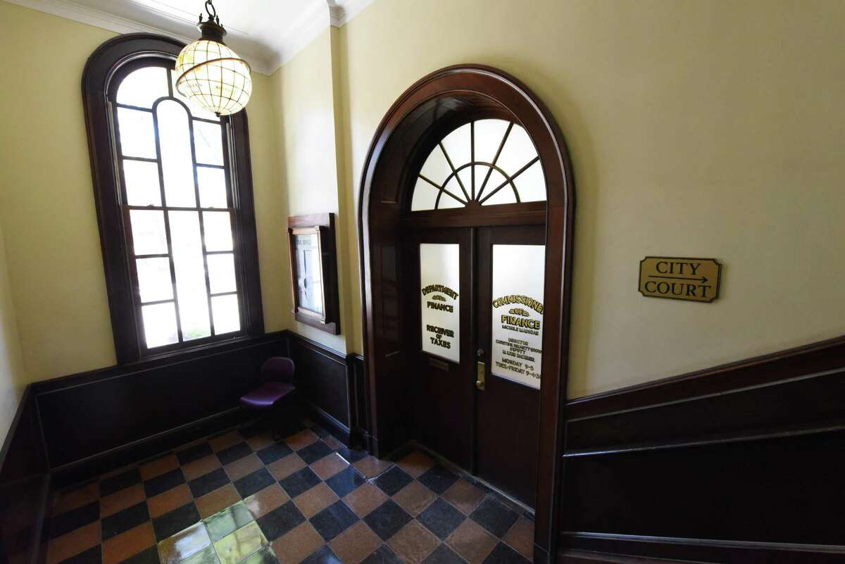 Entrance to Saratoga Springs Commissioner of Finance, Michele MadiganOs City Hall office on Friday, Sept. 16, 2016, in Saratoga Springs, N.Y. (Will Waldron/Times Union)