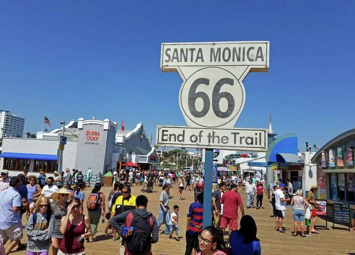 Route 66 ends at the Pier of Santa Monica, California.