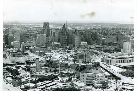 """In the years following World War II, a state health inspector famously dubbed Houston (pictured in the early 1950s) """"the horsemeat capital of Texas."""""""