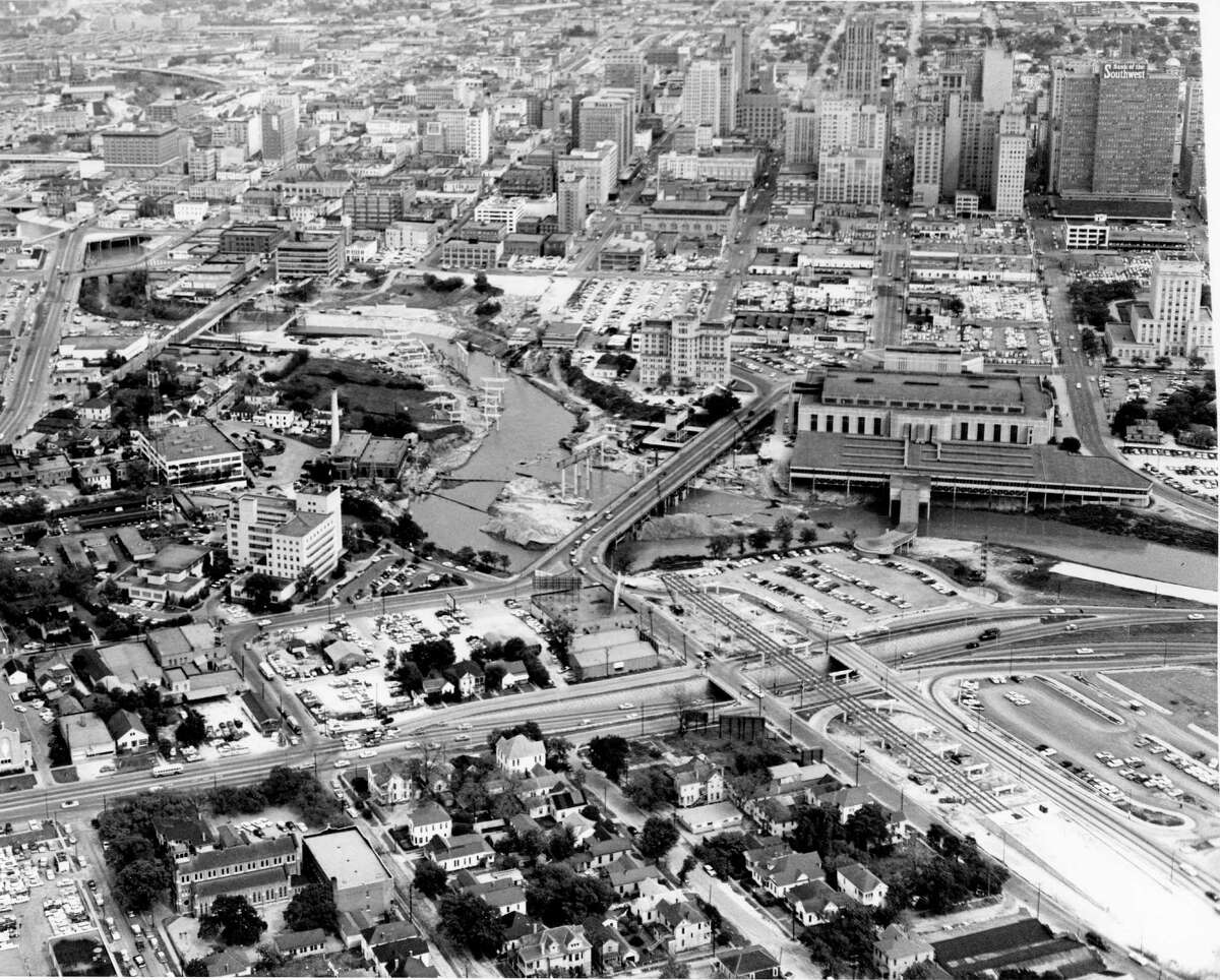 """In the years following World War II, a state health inspector famously dubbed Houston (shown here in the early 1950s) """"the horsemeat capital of Texas."""""""
