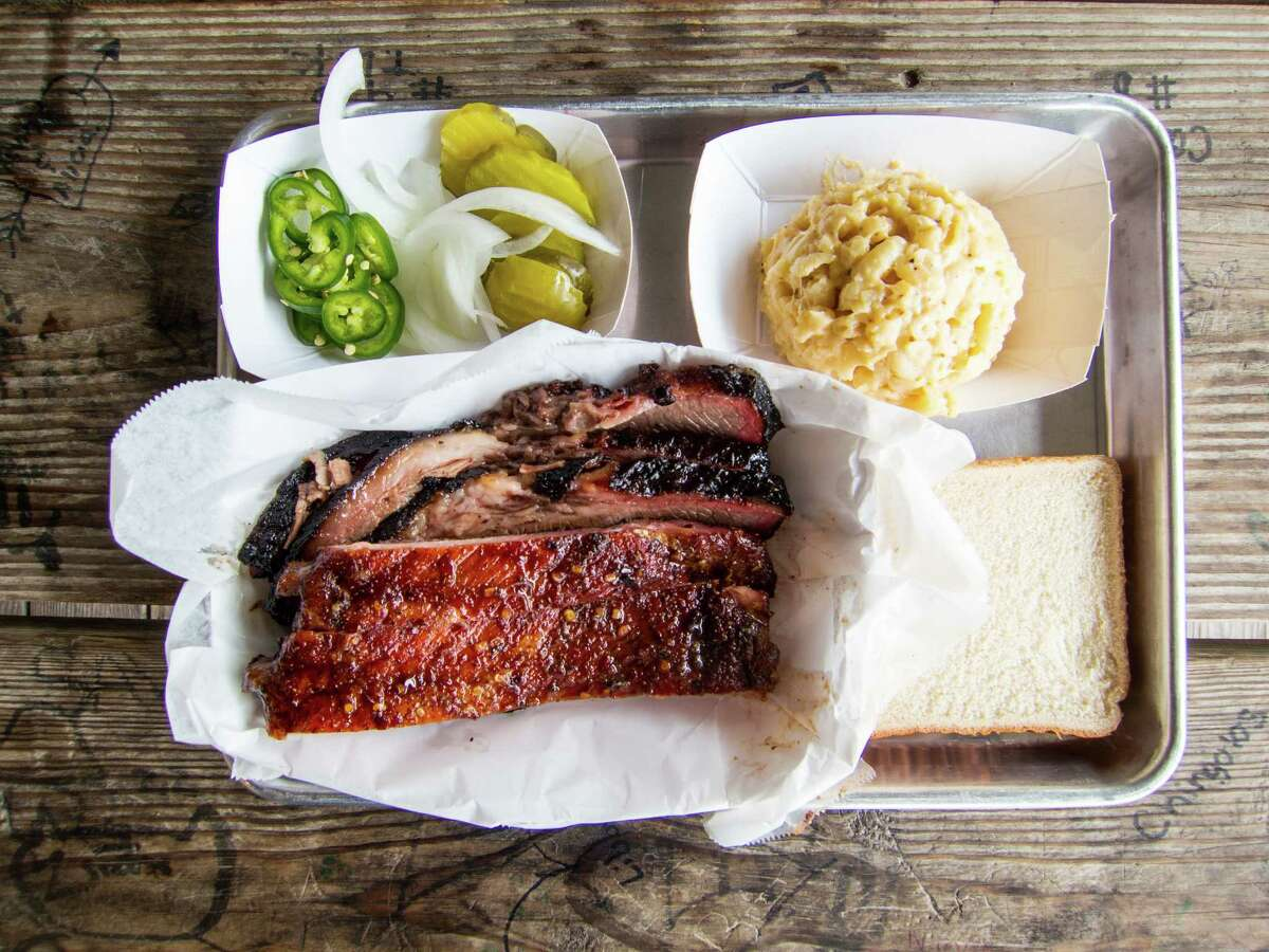 Ribs and brisket at CorkScrew BBQ in Spring, where owners Will and Nichole Buckman have opened a new brick-and-mortar restaurant. Ribs and brisket