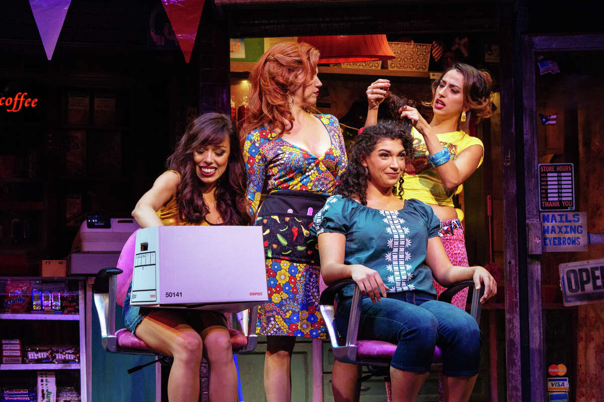 """Chelsea Zeno as Vanessa, Isabel Santiago as Daniela, Michelle Beth Herman as Nina and Alicia Taylor Tomasko as Carla in """"In the Heights"""""""