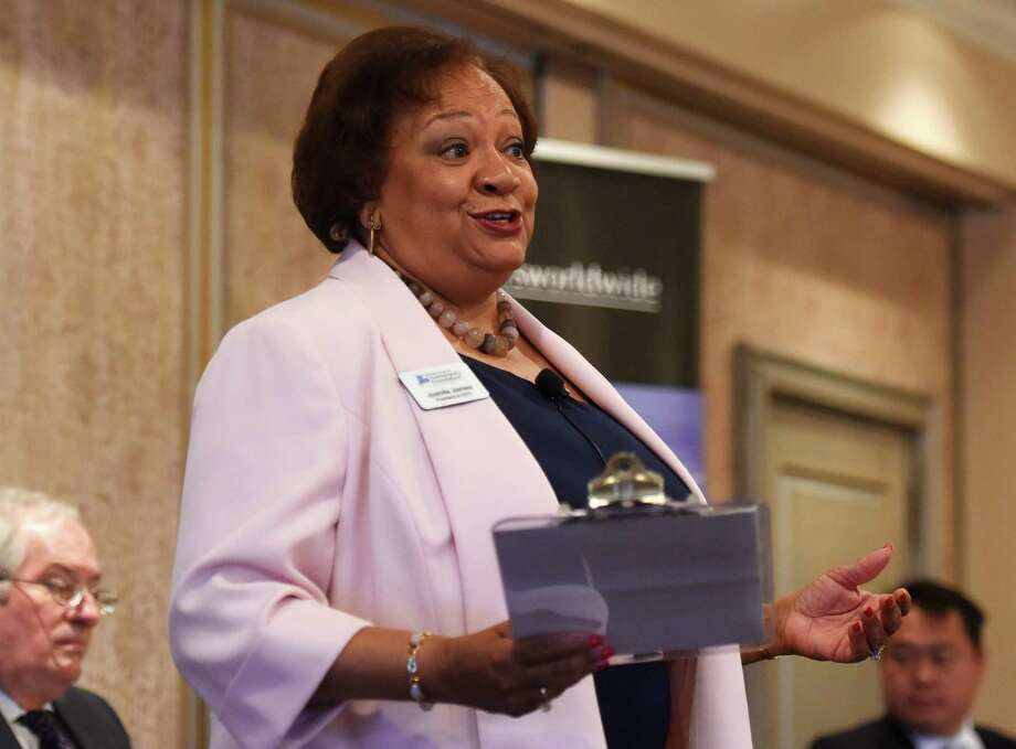 Fairfield County's Community Foundation CEO Juanita James in May 2016. Photo: Tyler Sizemore / Hearst Connecticut Media / Greenwich Time