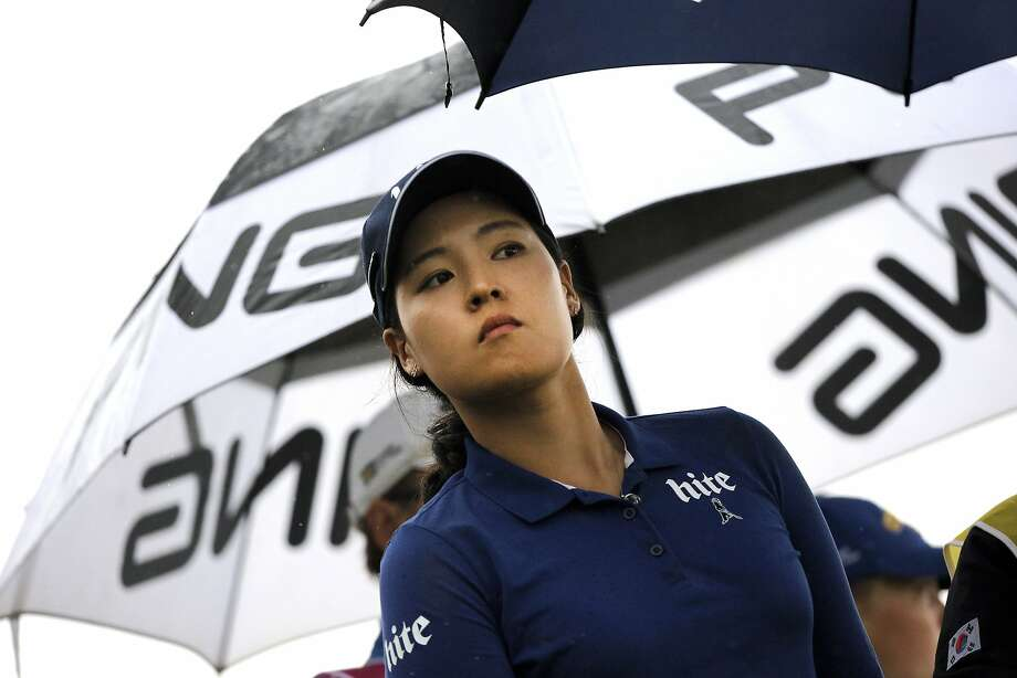 In Gee Chun of South Korea leads the LPGA's final major, the Evian Championship, by two strokes. Photo: Laurent Cipriani, Associated Press