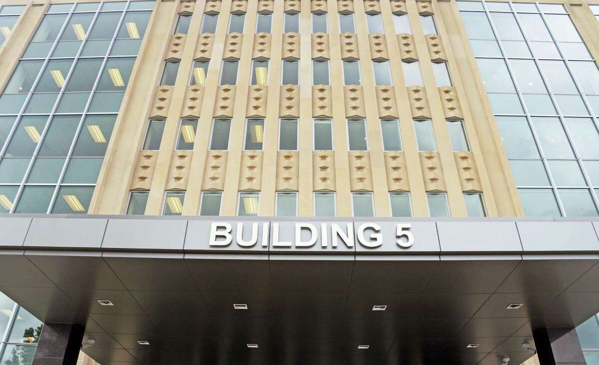 Unused since 2004, the newly renovated building 5, on the Harriman Campus is once again housing state offices Tuesday July 7, 2015 in Albany, NY. (John Carl D'Annibale / Times Union)