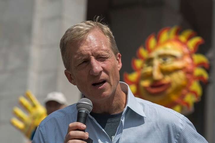 Billionaire environmental activist Tom Steyer addresses the March to Break Free from Fossil Fuels on May 14, 2016 in Los Angeles, California. The March to Break Free from Fossil Fuels are being held in several US cities and other nations as part of an international two-week protest campaign.  / AFP PHOTO / DAVID MCNEWDAVID MCNEW/AFP/Getty Images