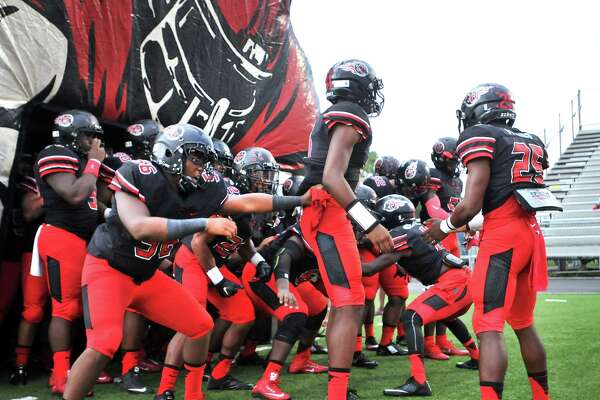 The Memorial Titans prepare to take the field on Friday as they host the Central Jaguars at Memorial Stadium in Port Arthur. (Mike Tobias/The Enterprise)