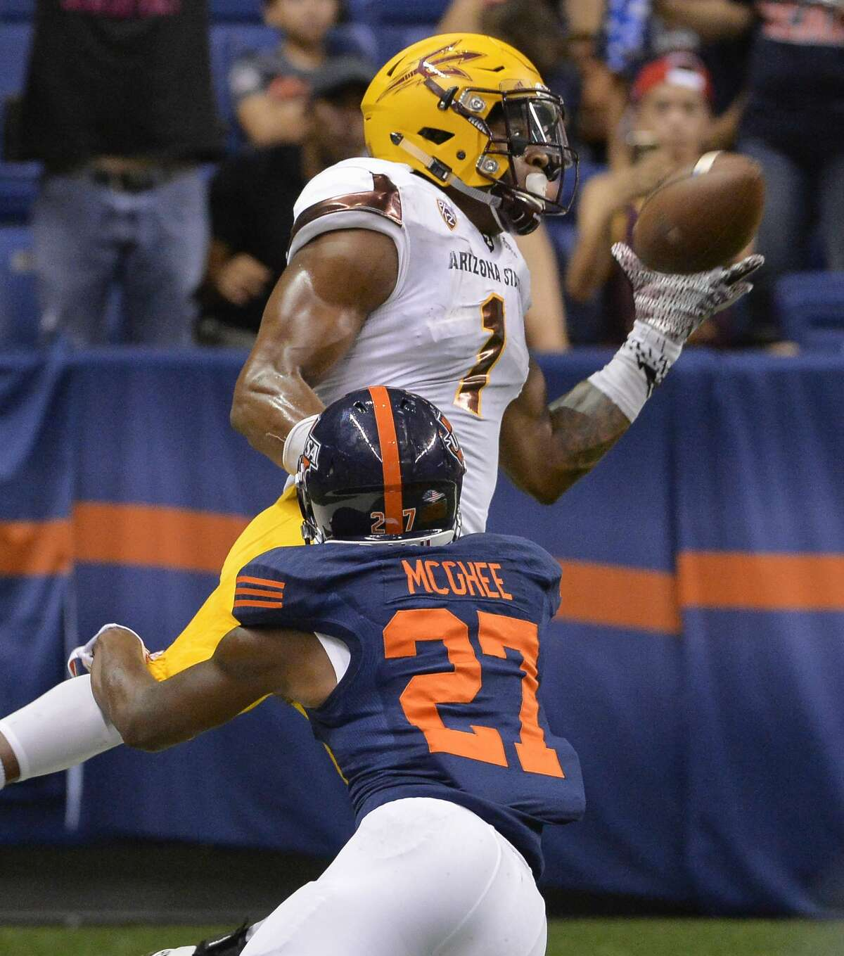 ROUND 1, NO. 21 OVERALL- WR N'KEAL HARRY, ARIZONA STATE As uncertainty continues to loom over Doug Baldwin's health, and the pre-existing need for more pass-catching depth, I'm inclined to believe the Seahawks will use their top pick on a wide receiver -- not an edge player. At the NFL league meetings in Phoenix, coach Pete Carroll expressed more optimism about his pass rush than outside speculation would suggest. He's excited about what 2018 rookie Jacob Martin, who had the three sacks last season, can do in Year 2. And Seattle announced Thursday it had signed two defensive ends, highlighted by a familiar face in Cassius Marsh. The Seahawks appear seriously interested in N'Keal Harry, as the NFL Network reported that they're having him in for a visit. He checks several boxes. I outlined them earlier this week: a big, physical receiver (6 feet 2 and 228 pounds) who thrives in contest situations. He was extremely productive in Tempe, Ariz. He posted consecutive 1,000-plus yard seasons and was named a first-team All-Pac 12 selection in back-to-back years.