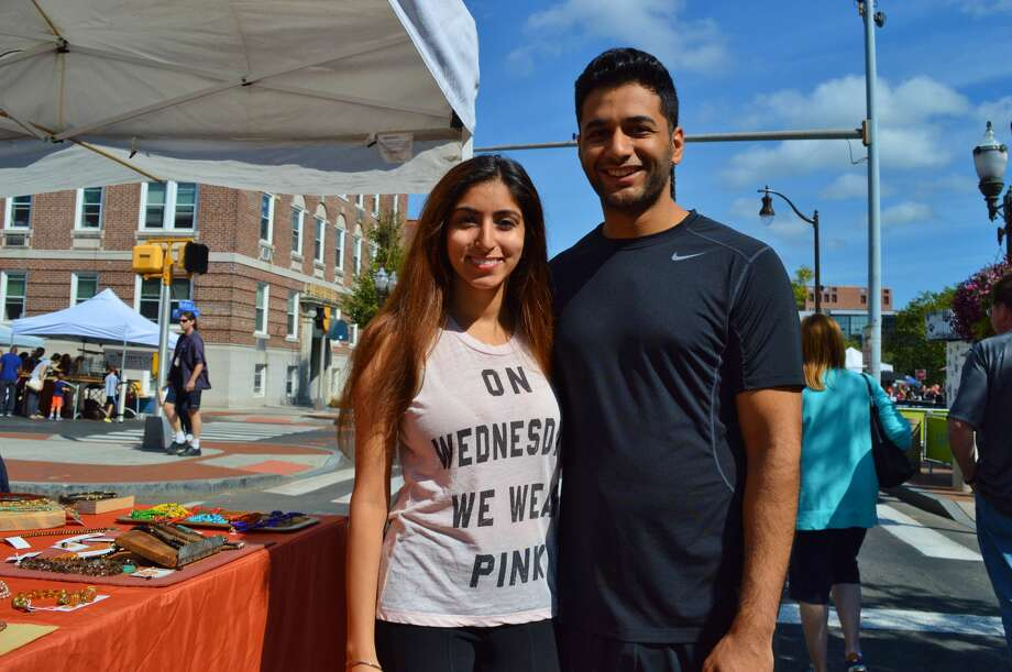 Bedford Street in Stamford became an art fair on September 17 and 18 during the annual Arts and Crafts on Bedford event. Guests enjoyed art work, activities for kids and a sidewalk café. Were you SEEN? Photo: Todd Tracy / Hearst Media