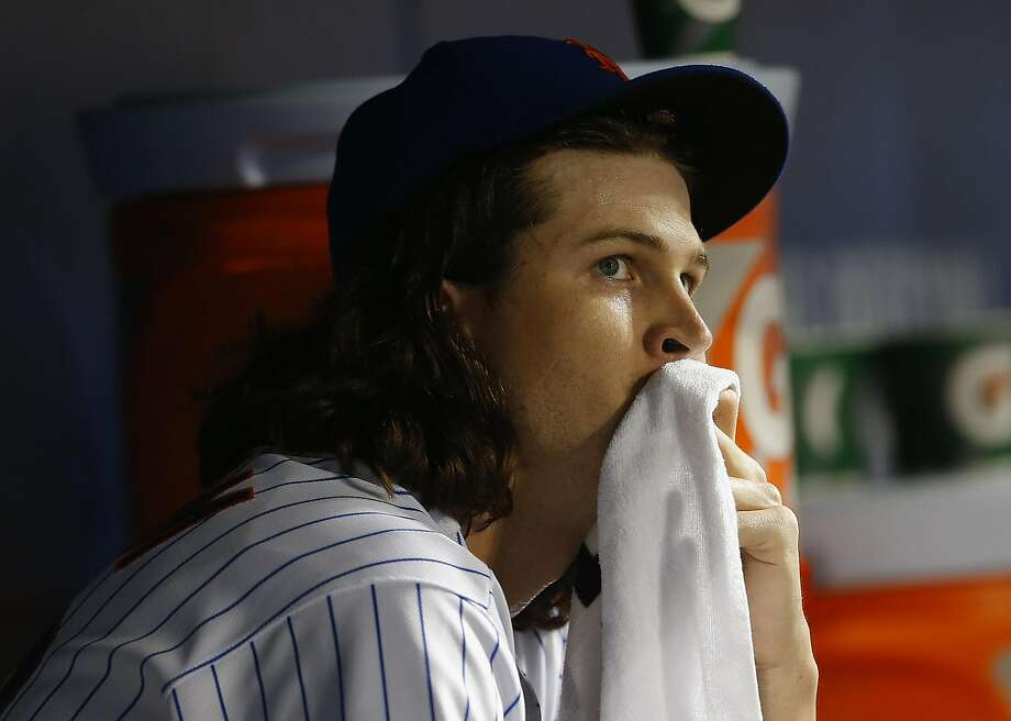 Jacob deGrom finishes 2016 at 7-8 with a 3.04 ERA, including 0-3 with a 9.82 ERA in his final three starts. Photo: Rich Schultz, Getty Images
