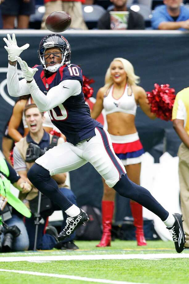 DeAndre Hopkins has 16 catches for 223 yards and two of the Texans' three touchdowns this season. Photo: Brett Coomer, Houston Chronicle / © 2016 Houston Chronicle