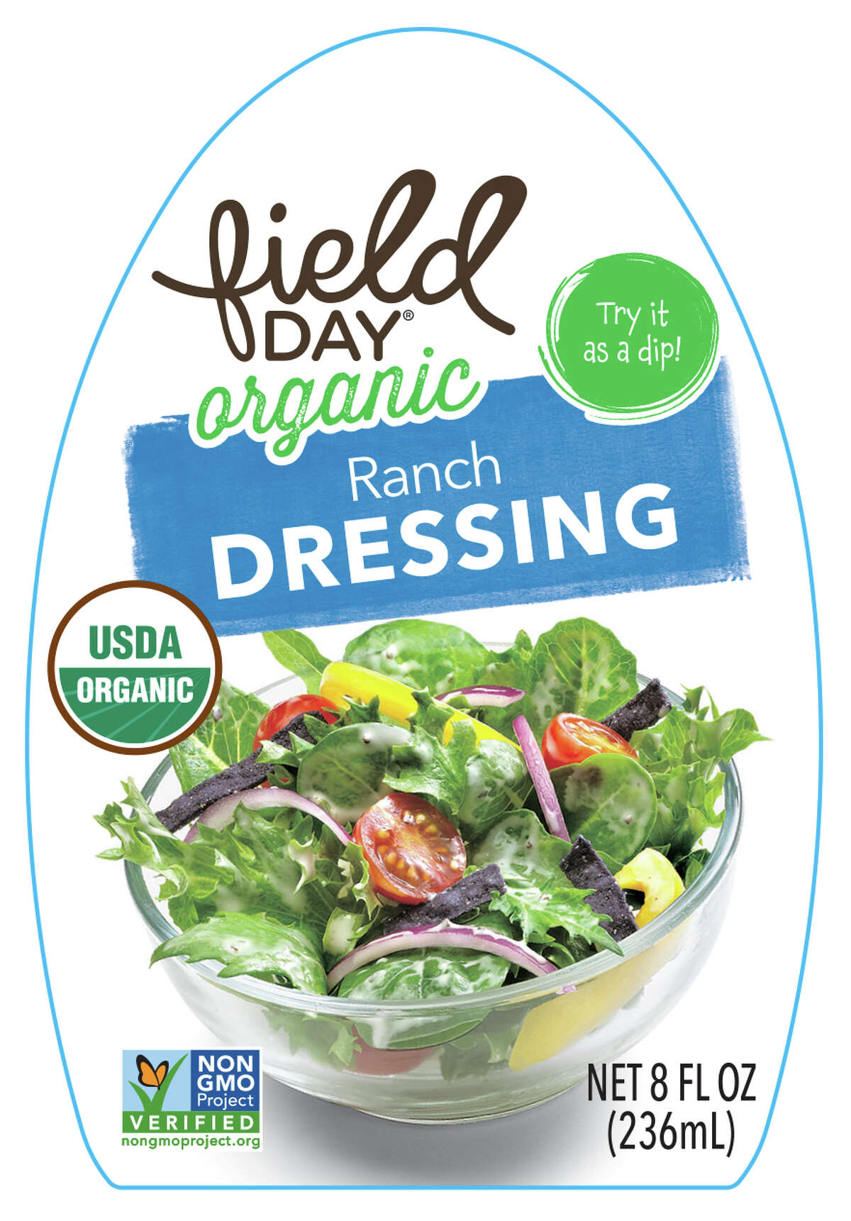 Vermont-based Drew's, LLC is voluntarily recalling one lot code of Field Day Organic Ranch Dressing due to product mislabeling that has resulted in an undeclared milk and egg allergen. Photo courtesy of the U.S. Food and Drug Administration.