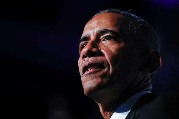 President Barack Obama speaks at the Congressional Black Caucus Foundation's 46th Annual Legislative Conference Phoenix Awards Dinner, Saturday, Sept. 17, 2016 in Washington.