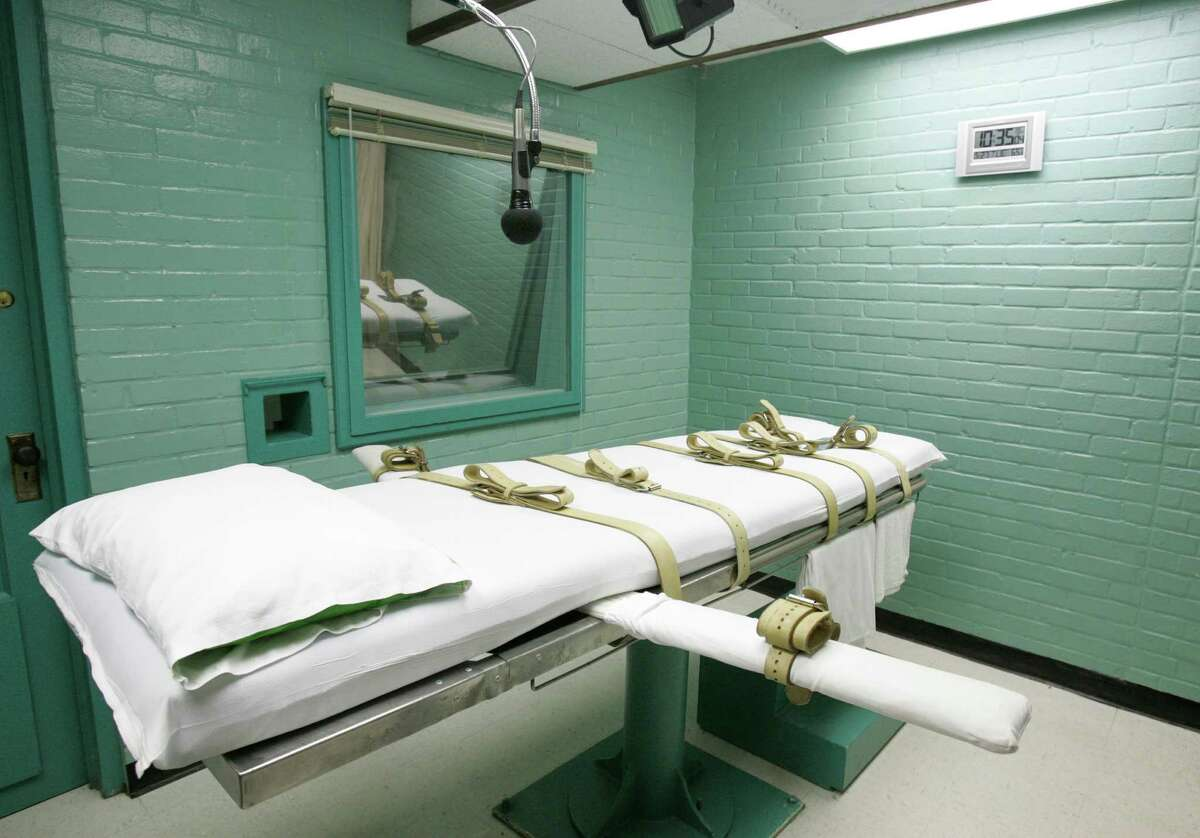 In this May 27, 2008 file photo, the gurney in Huntsville, Texas, where Texas' condemned are strapped down to receive a lethal dose of drugs is shown. The Texas Court of Criminal Appeals, viewed historically as little more than a speedbump on condemned inmates' road to the death chamber, in recent weeks has halted the lethal injection of four inmates with execution dates approaching. (AP Photo/Pat Sullivan, File)