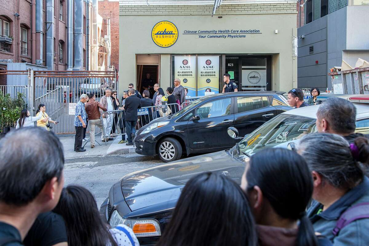 outside the apartment of Rose Pak, where she died at her Chinatown home, Sunday, Sept. 18, 2016 in San Francisco, Calif.