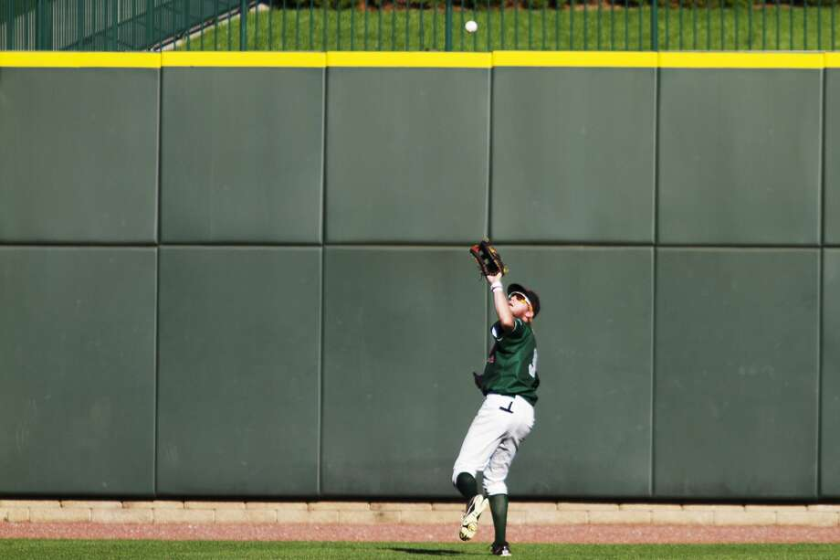 The Great Lakes Loons outfielder Logan Landon makes the catch during the Midwest League Championship game against the Clinton LumberKings at Dow Diamond on Sunday. Photo: Theophil Syslo