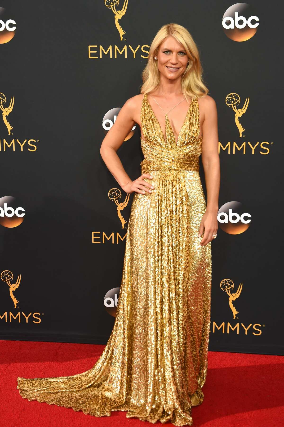 Actress Claire Danes attends the 68th Annual Primetime Emmy Awards at Microsoft Theater on September 18, 2016 in Los Angeles.