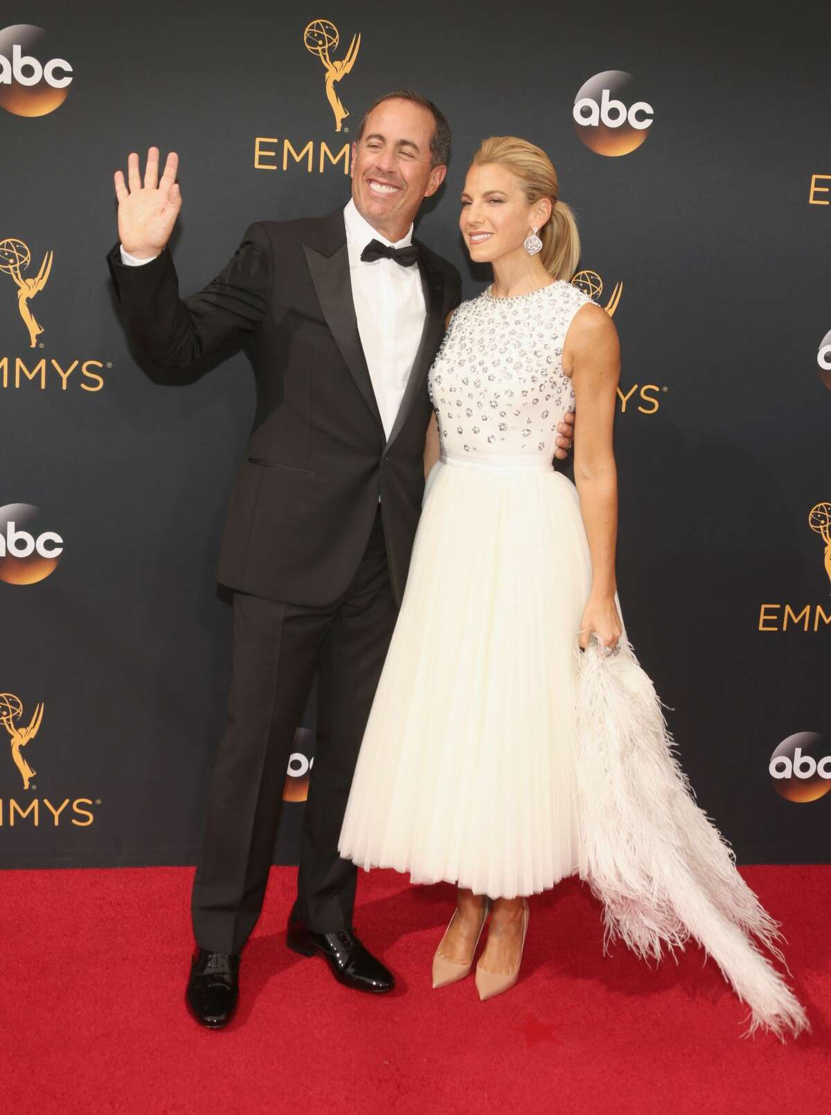 Actor Jerry Seinfeld (L) and author Jessica Seinfeld attend the 68th Annual Primetime Emmy Awards at Microsoft Theater on September 18, 2016 in Los Angeles.