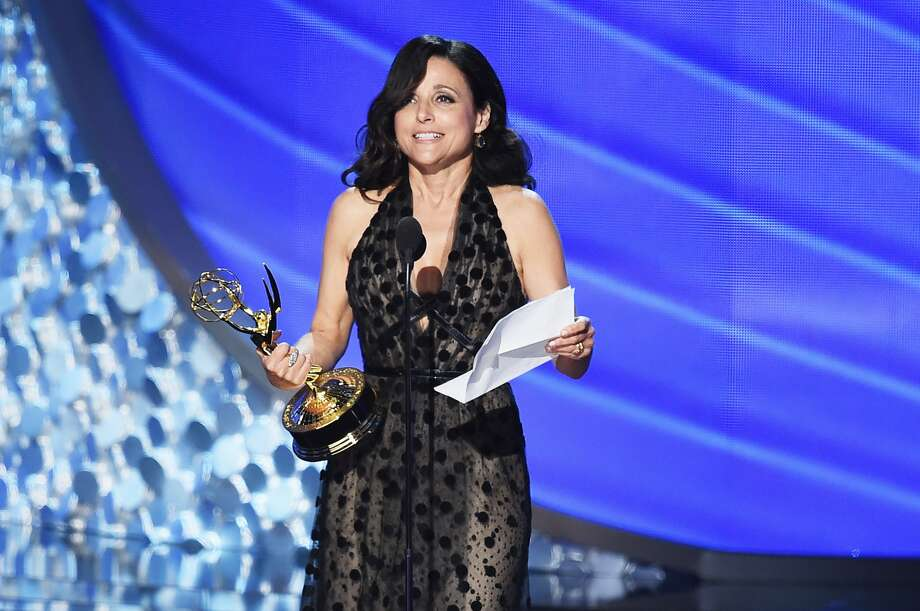 Actress Julia Louis-Dreyfus accepts Outstanding Lead Actress in a Comedy Series for 'Veep' onstage during the 68th Annual Primetime Emmy Awards at Microsoft Theater on September 18, 2016 in Los Angeles, California.
