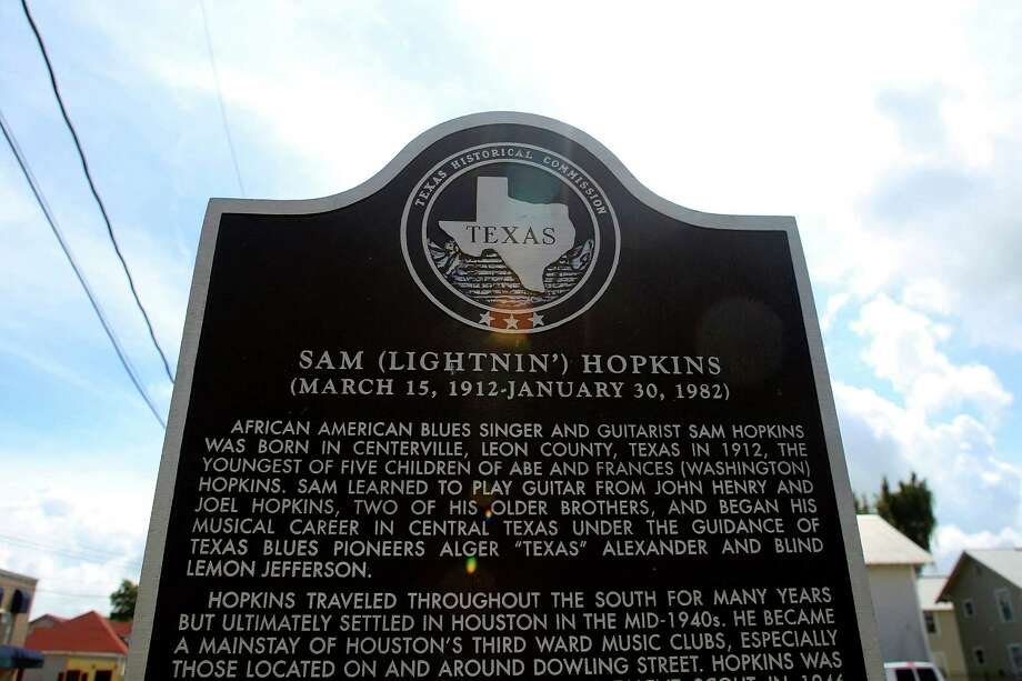 On Dowling Street, in the Third Ward, a historic plaque commemorates the time that blues great Lightnin' Hopkins spent in the area. Photo: Houston Chronicle / © 2016 Houston Chronicle