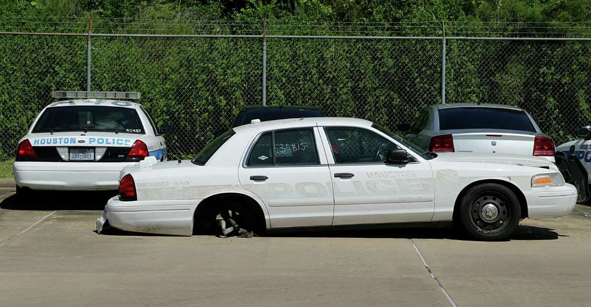 Some Houston Police Department vehicles were out of service for a variety of reasons last week.