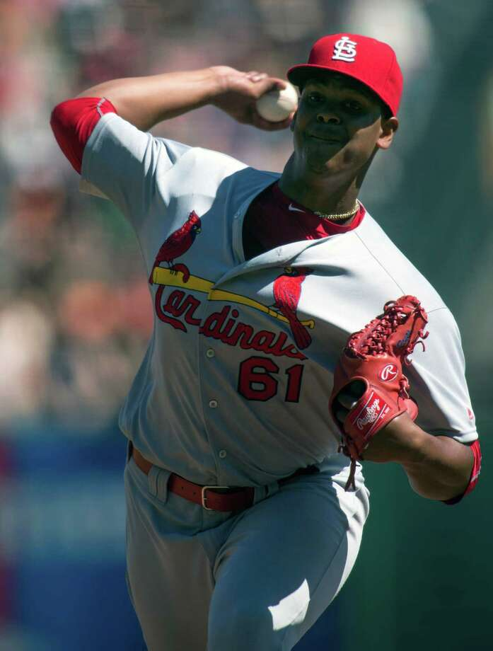 St. Louis Cardinals starting pitcher Alex Reyes delivers against the San Francisco Giants during the first inning of a baseball game, Sunday, Sept. 18, 2016, in San Francisco. (AP Photo/D. Ross Cameron) ORG XMIT: FXPB105 Photo: D. ROSS CAMERON / FR39290 AP