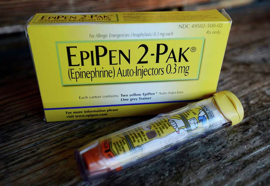 The EpiPen epinephrine auto-injector - a life-saving allergy shot for anaphylactic reactions - has increased in price 300 percent over the past several years. Photo: Mark Zaleski, FRE / FR170793 AP