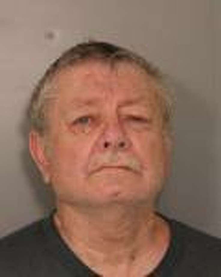 Troopers arrested Wayne E. Bailey of Schaghticoke, 68, for graffiti Thursday after he was caught on camera vandalizing a trail sign, State Police said. (State Police)