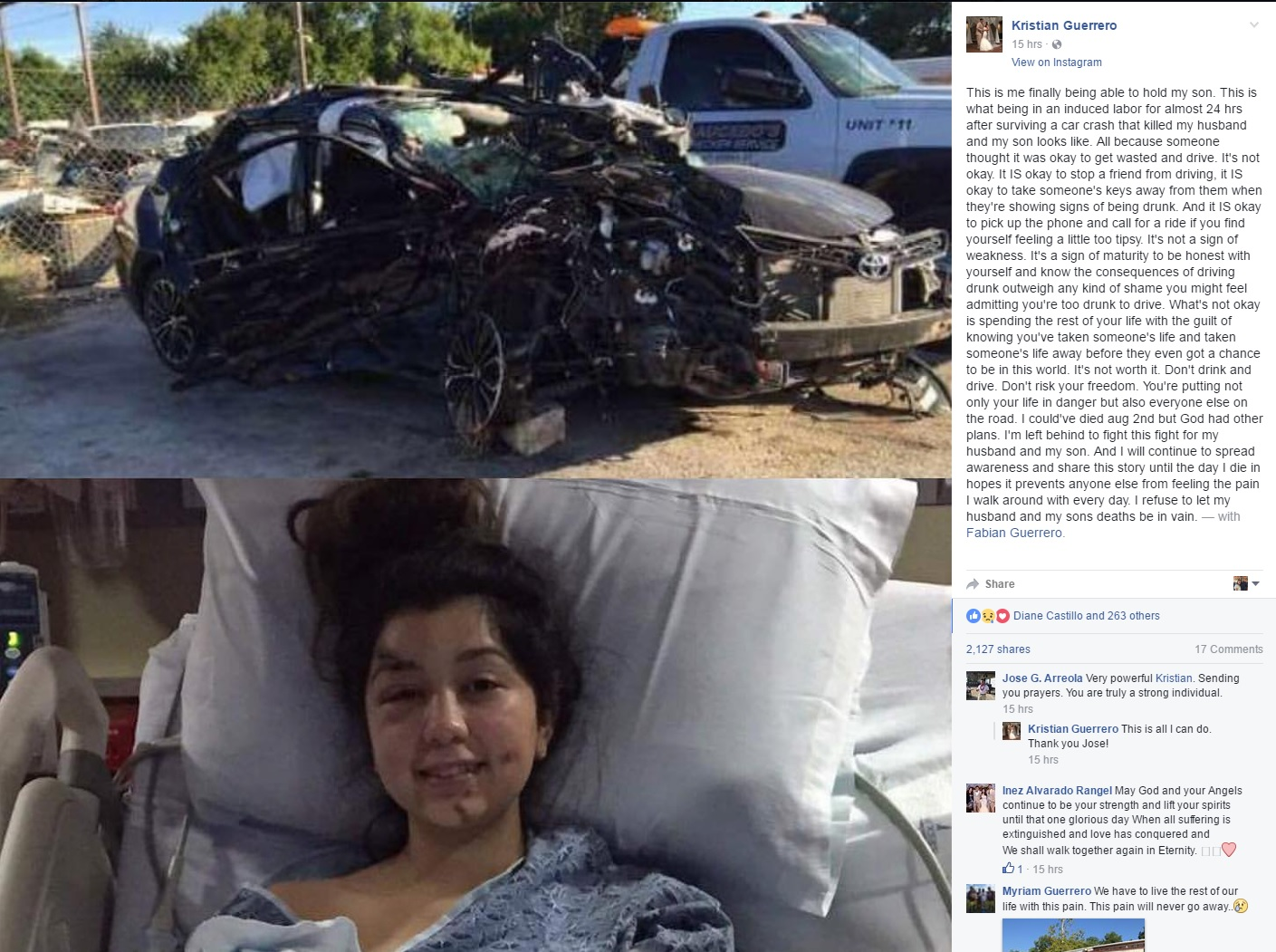 Mother Who Lost Child Husband In Drunk Driving Accident