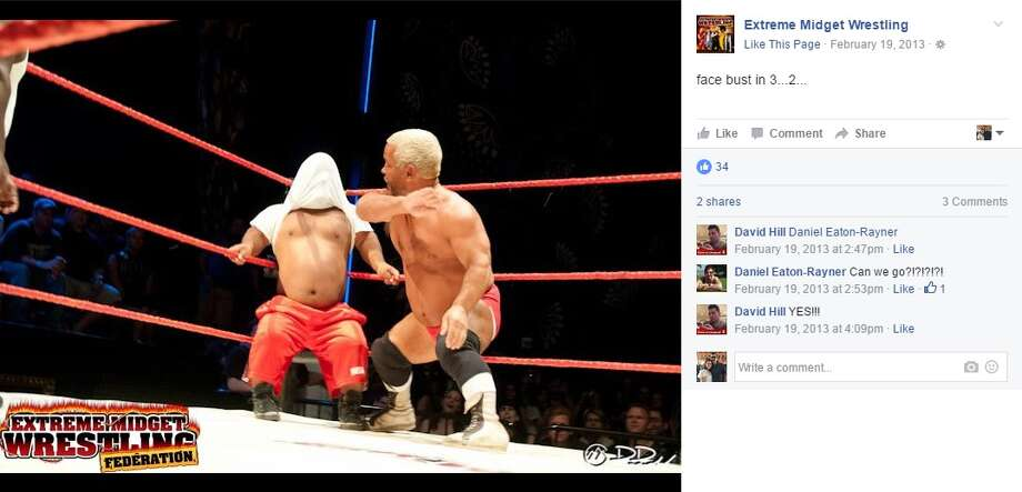 Extreme Midget Wrestling will be in San Antonio Sept. 22, 2016 at Garden Bistro Bar. Photo: Courtesy/Facebook
