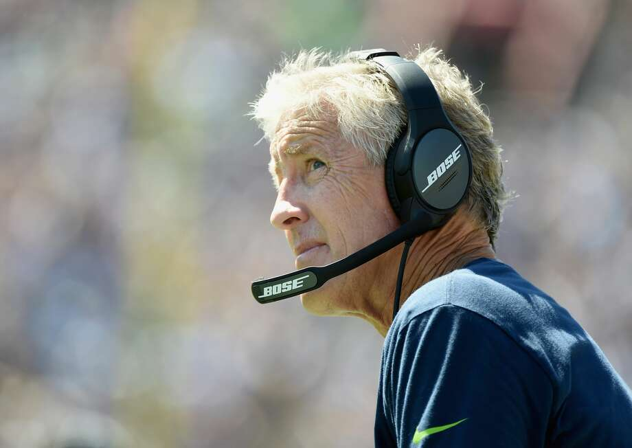 LOS ANGELES, CA - SEPTEMBER 18:  Head coach Pete Carroll of the Seattle Seahawks watches the game in the third quaarter of the home opening NFL game against the Los Angeles Rams at Los Angeles Coliseum on September 18, 2016 in Los Angeles, California.  (Photo by Harry How/Getty Images) Photo: Harry How/Getty Images